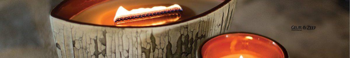 WoodWick Ceramic Collection stoere geurkaarsen met houten lont