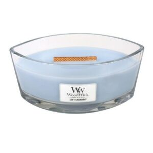 WoodWick Soft Chambray Geurkaars HearthWick Ellips
