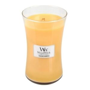 Woodwick Seaside Mimosa Geurkaars Large