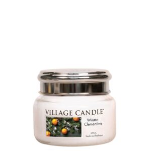 Winter Clementine Village Candle Geurkaars Small