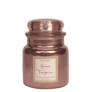 Guava Tangerine Metallic Village Candle Geurkaars Medium