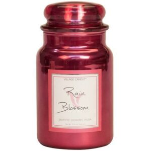 Rain Blossom Metallic Village Candle Geurkaars Medium