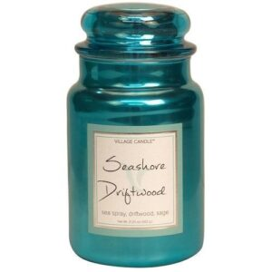 Seashore Driftwood Metallic Village Candle Geurkaars Large