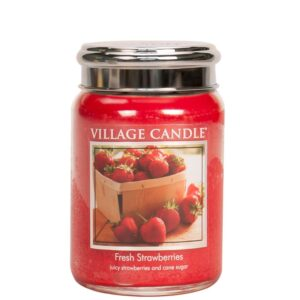 Fresh Strawberries Village Candle Geurkaars Large