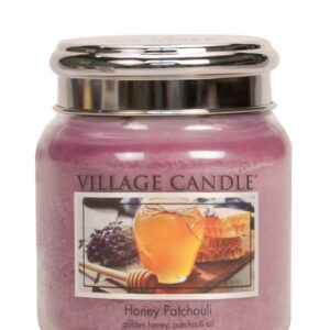 Honey Patchouli Village Candle Geurkaars Medium