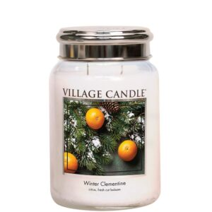 Winter Clementine Village Candle Geurkaars Large