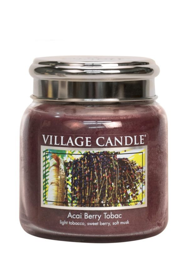 Acai Berry Tabac Village Candle Geurkaars Medium