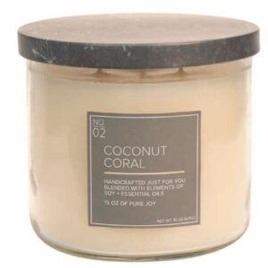 Coconut Coral Soy Blended 3 Wicks Candle