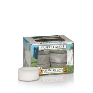 Clean Cotton Tea Lights Yankee Candle
