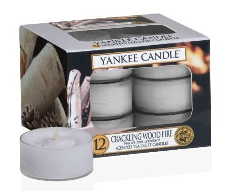 Crackling Wood Fire Tea Lights Yankee Candle