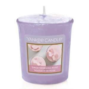 Sweet Morning Rose Votive Yankee Candle