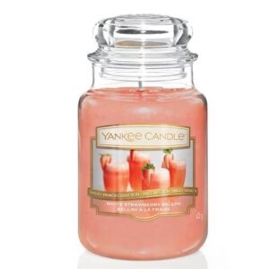 White Strawberry Bellini Large Jar Yankee Candle