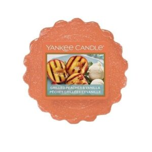 Grilled Peaches & Vanilla Wax Melt Tart Yankee Candle