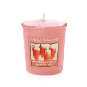 White Strawberry Bellini Votive Yankee Candle