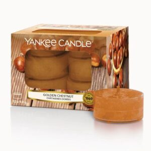 Golden Chestnut Tea Lights Yankee Candle