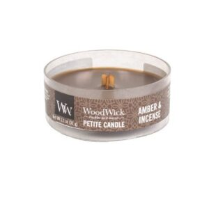 WoodWick Amber & Incense Petit Candle