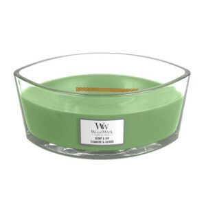 WoodWick Hemp & Ivy Ellipse Geurkaars