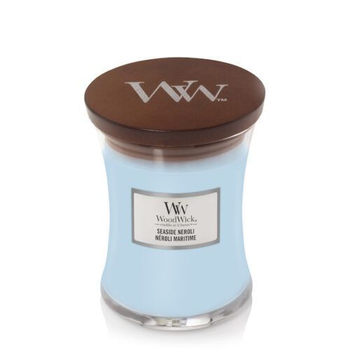 WoodWick Seaside Neroli Medium Geurkaars