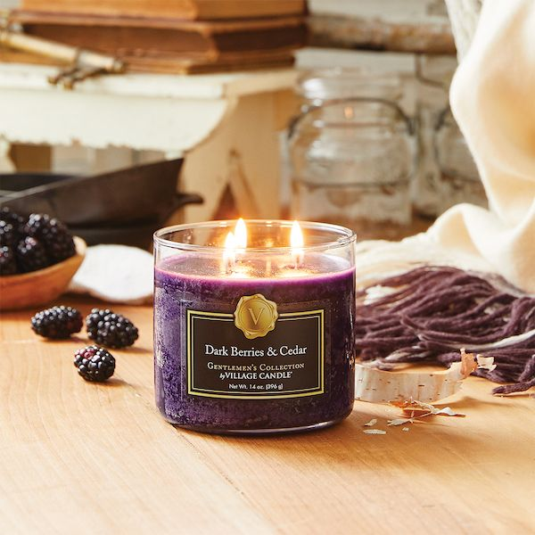 Dark Berries & Cedar Village Candle